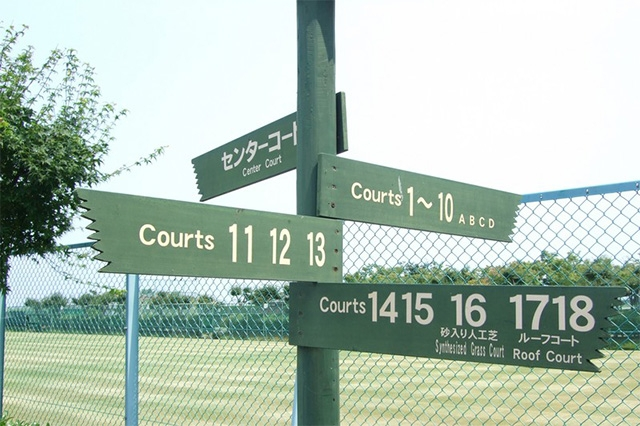 sign post for courts