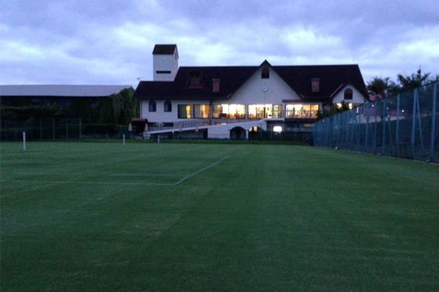 clubhouse in the evening