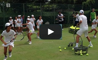 "Lesson to juniors by Dan Bloxham, head coach of ""Wimbledon"" in Aug. 2015"